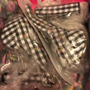 Betsey Johnson New In Box black white Platforms