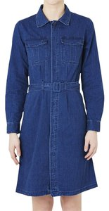A.P.C. short dress Denim Chambray French Trench on Tradesy