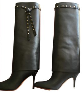 Giovanni Valentino black with gold stud Boots