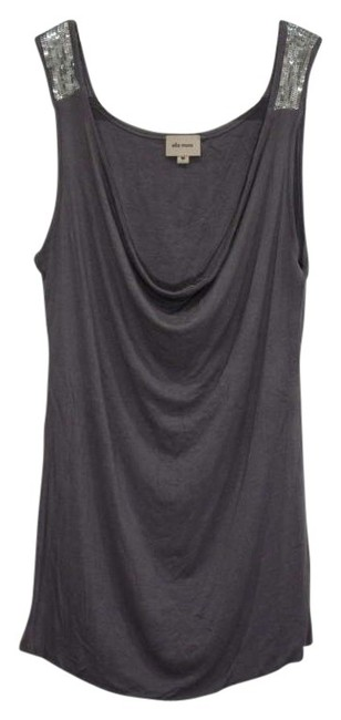 Ella Moss Going Out Silver Sequin Sequin Sequin Detail Cowl Neck Cowl Stretchy Top gray