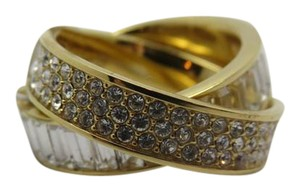 Michael Kors Nwt Michael Kors Gold Tone Brilliance Pave Stones & Baguettes Ring 7