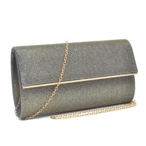 Other Classy The Treasured Hippie Vintage Party Wear Metallic Silver Clutch