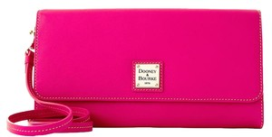 Dooney & Bourke Leather Fushia Clutch