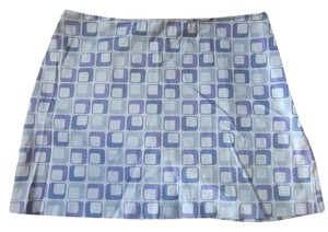 Express Mini Print Mini Skirt Purple