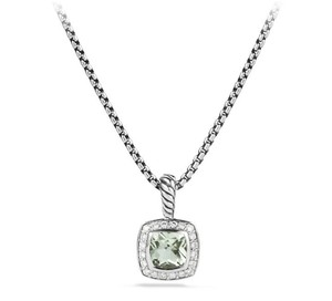 David Yurman Petite Albion Pendant Necklace with Prasiolite and Diamonds