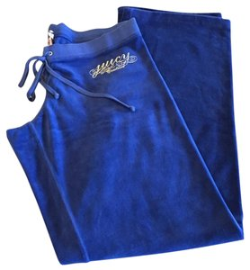 Juicy Couture JUICY COUTURE blue VELVET SWEAT PANTS WITH STRING