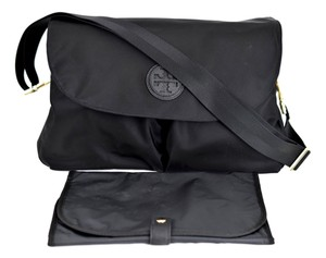 Tory Burch Messenger Black Diaper Bag