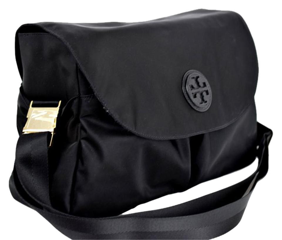 Tory Burch Messenger Nylon Black Diaper Bag