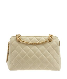 Chanel Leather Gold-tone Shoulder Bag