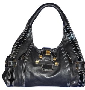B. Makowsky B Patent Leather Hobo Bag