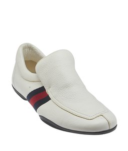 Gucci Pebble Leather Sneakers White Athletic