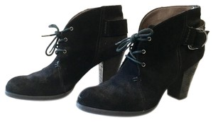 Miss Sixty Buckle Lace Up Suede Black Boots