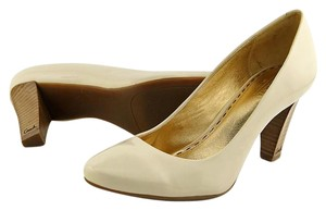 Coach Patent Leather Logo Beige/Ivory Pumps