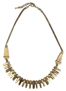 Bohemian Gold Geometric Square Tribal Necklace