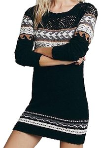 ETERNAL SUNSHINE CREATIONS short dress Black Multi Bohemian Embroidered on Tradesy