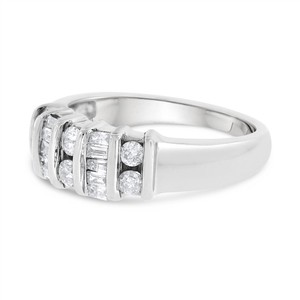 Other 0.50 CT Classy Natural Diamond Anniversary Band in Solid 14k White Gol