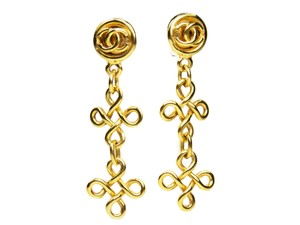 Chanel CHANEL Vintage Clip-on Earrings in Gold-plating