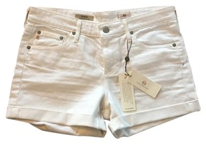 AG Adriano Goldschmied Agjeans Cuffed Shorts White Size 28
