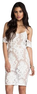 For Love & Lemons Off The Lace Bridesmaid Lace Winter White Dress