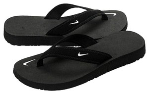 Nike black and pink Sandals