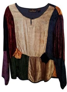 Sacred Threads Indian Velour Colorful Top Multi