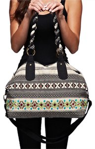 Southern Girl Fashion Weekender Duffle Travel Oversized Patterned Ethnic Bohemian Black, Green Multi Travel Bag