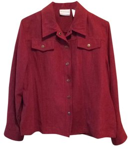 Alfred Dunner Button Down Shirt Rust