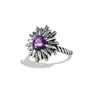 David Yurman Starburst Cable Ring with Amethyst