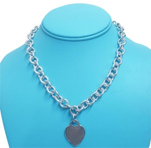 Tiffany & Co. PRETTY!!!! Tiffany & Co. Heart Charm Necklace Sterling Silver 15