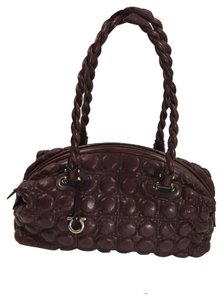 Salvatore Ferragamo Bubble Satchel in Maroon
