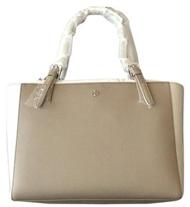 Tory Burch Satchel in French Gray/ Silver