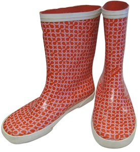 Coach Rubber Red & White Boots