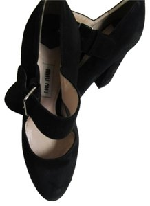 Miu Miu Suede BLACK Pumps