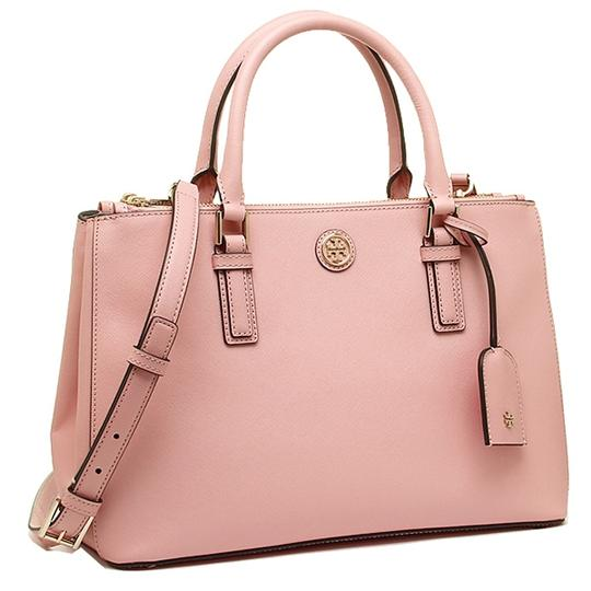 tory burch robinson mini double zip pink rose sachet tote bag on sale 43 off totes on sale. Black Bedroom Furniture Sets. Home Design Ideas