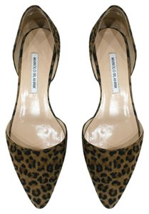 Manolo Blahnik Brown Flats