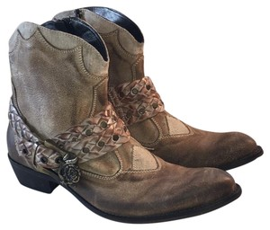 Mark Nason Tan Distressed Leather Boots