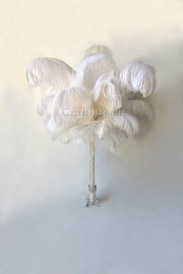 White Ostrich Feather 12-14 Inches 50 Pieces Centerpiece