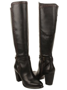 UGG Australia Claudine Ugg Tall Stacked Heel Leather black Boots