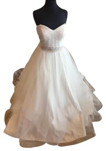Essense of Australia Ivory Gown with Silver and Pearl Detail Stella York 5859 Wedding Dress Size 10 (M)