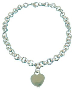 Tiffany & Co. CLASSIC!!!! Tiffany & Co. Heart Harm Necklace Sterling Silver 15.5