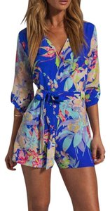 Yumi Kim Floral Printed Belted Waist Chic Dress