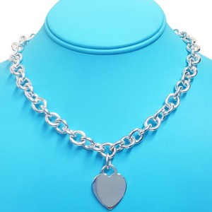 Tiffany & Co. RARE SIZE!!!!! Tiffany & Co. Heart Charm Necklace Sterling Silver 16