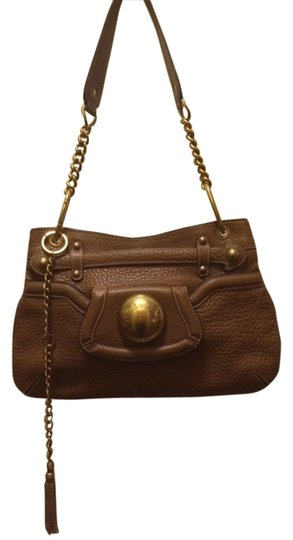 Dolce&Gabbana Clutch Stylish Classic Magnetic Closure Leather Brass Chain Shoulder Bag
