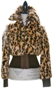 Guess Fuax Fur Lepord Jacket