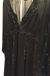 Nanette Lepore Detail Sparkle Glitter Love Monochrome Dress