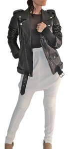 BLK DNM Leather Motorycle Cool Street Style Motorcycle Jacket