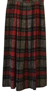 Susan Bristol Maxi Skirt black,red,green with specks of white