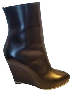 Givenchy Almond Toe Seamless Hidden Wedge Ankle Black Boots