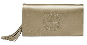 Gucci Metallic Gold Clutch