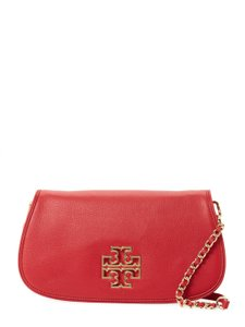 Tory Burch Convertible Clutch Party Logo Gold Hardware Cross Body Bag